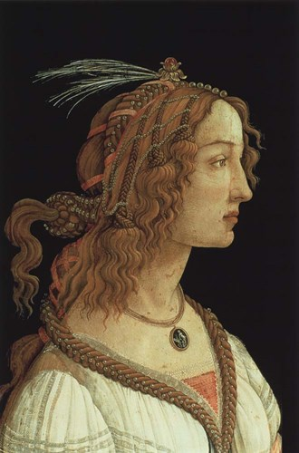 Portrait of a Young Woman, 1485 art print by Sandro Botticelli for $35.00 CAD