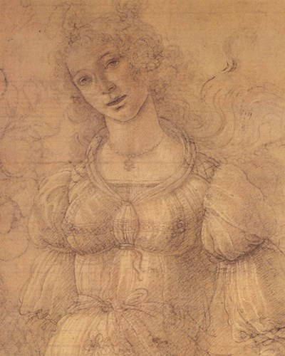 Drawing of a Woman art print by Sandro Botticelli for $55.00 CAD