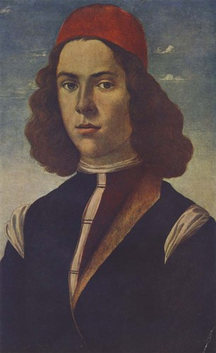 Portrait of a Young Florentine Nobleman art print by Sandro Botticelli for $33.75 CAD