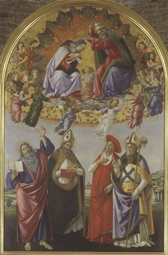 Kronung Mariae art print by Sandro Botticelli for $35.00 CAD