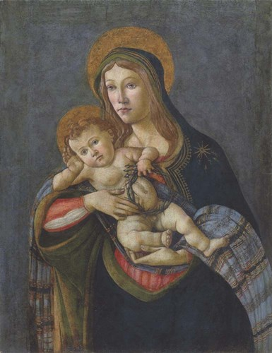Madonna and Child with the Crown of Thorns and Three Nails art print by Sandro Botticelli for $22.50 CAD
