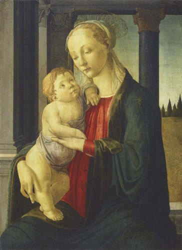 Madonna and Child, 1467 art print by Sandro Botticelli for $32.50 CAD