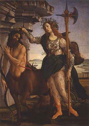 Pallas Athena and the Centaur, 1482 art print by Sandro Botticelli for $31.25 CAD