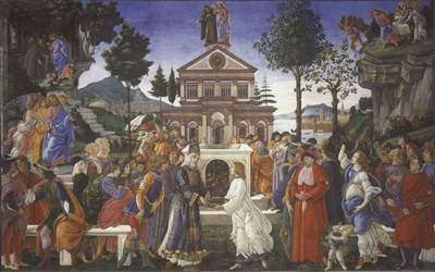 The Temptation of Christ, 1481-1482 art print by Sandro Botticelli for $33.75 CAD