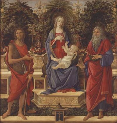 Enthroned Madonna with Child and Saints art print by Sandro Botticelli for $37.50 CAD