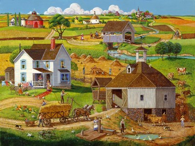 Bringing In The Hay art print by Bob Pettes for $63.75 CAD