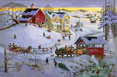 Christmas Time art print by Bob Pettes for $58.75 CAD