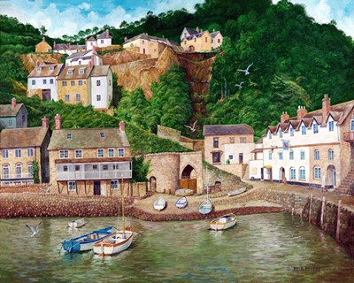 Clovelly Harbor art print by Bob Pettes for $135.00 CAD