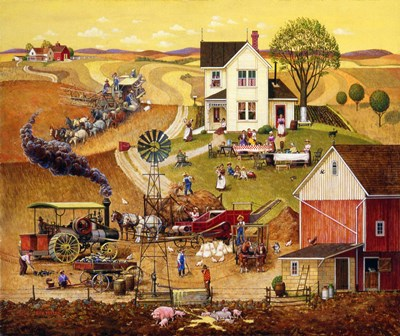 Harvest Time art print by Bob Pettes for $57.50 CAD