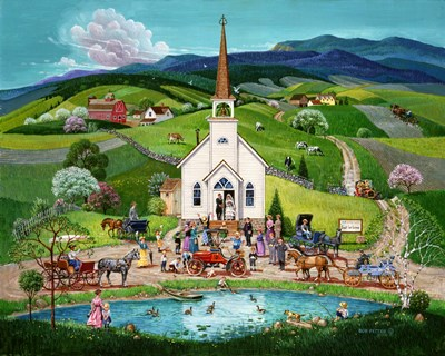 Spring Wedding art print by Bob Pettes for $68.75 CAD