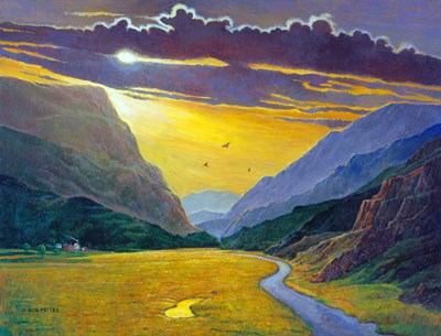 Sunset In Wales art print by Bob Pettes for $41.25 CAD