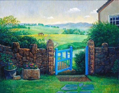 The Blue Gate art print by Bob Pettes for $31.25 CAD