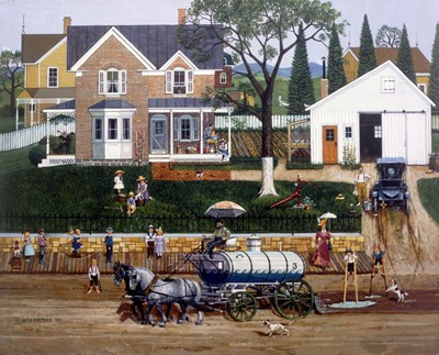 The Water Wagon art print by Bob Pettes for $67.50 CAD