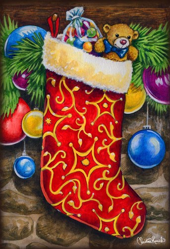 Christmas Stocking art print by Christine Kerrick for $41.25 CAD