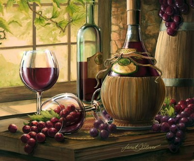 Wine By The Window I art print by Janet Stever for $98.75 CAD