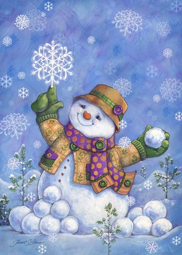 Frosty's Flakes (vertical) art print by Janet Stever for $40.00 CAD