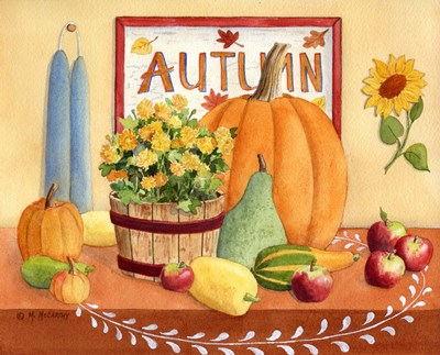 Autumn Table art print by Maureen Mccarthy for $52.50 CAD