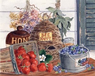 Bee Happy art print by Maureen Mccarthy for $53.75 CAD