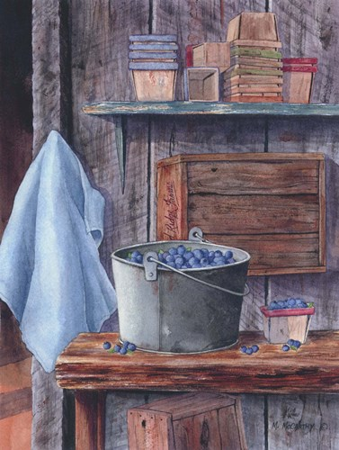 Blueberries And Pint Boxes art print by Maureen Mccarthy for $35.00 CAD