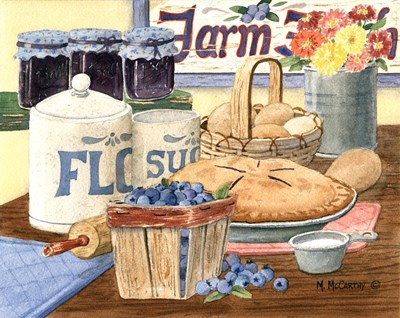 Blueberry Pie art print by Maureen Mccarthy for $53.75 CAD