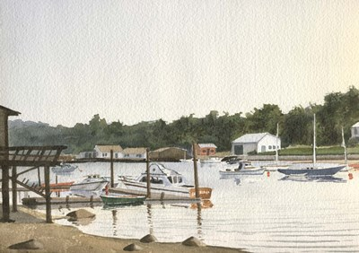 Boats At Low Tide art print by Maureen Mccarthy for $35.00 CAD