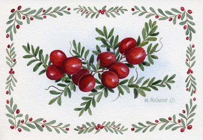 Cranberry Spray art print by Maureen Mccarthy for $25.00 CAD
