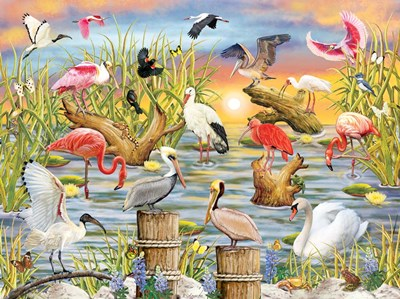 Fabulous Water Birds art print by Rosiland Solomon for $63.75 CAD