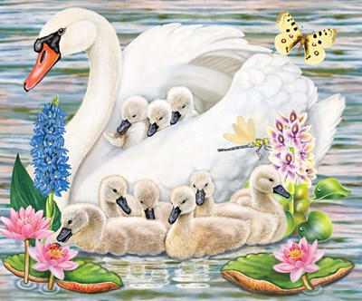 Mother Swan art print by Rosiland Solomon for $41.25 CAD