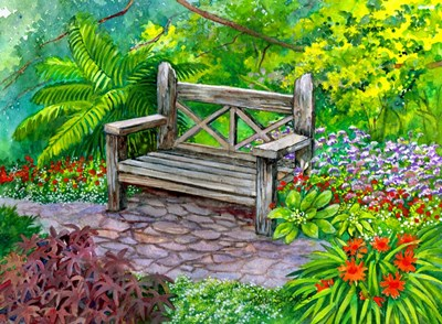 A Place to Pause art print by Val Stokes for $38.75 CAD