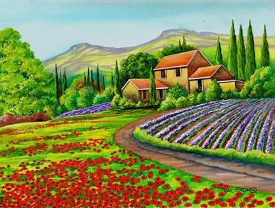Tuscany Lavender art print by Val Stokes for $63.75 CAD