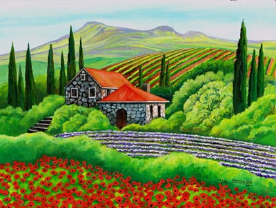 Tuscany Poppies art print by Val Stokes for $63.75 CAD