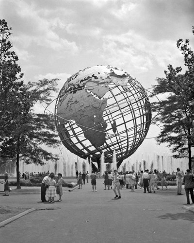 1964 New York World's Fair Unisphere Flushing Meadows NY art print by Vintage Images for $66.25 CAD