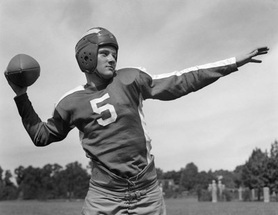 Quarterback About To Toss Football Pass art print by Vintage Images for $65.00 CAD
