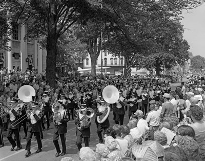 Fourth Of July Main Street Parade With Marching Band art print by Vintage Images for $66.25 CAD
