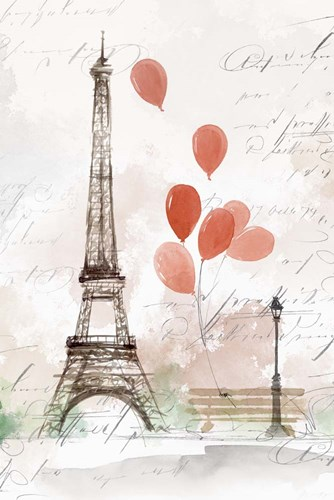 Balloons in Paris art print by Isabelle Z for $43.75 CAD