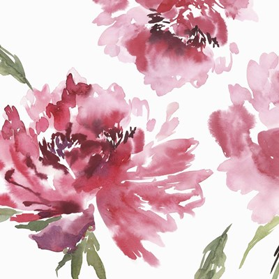 Crimson Blossoms II art print by Isabelle Z for $56.25 CAD