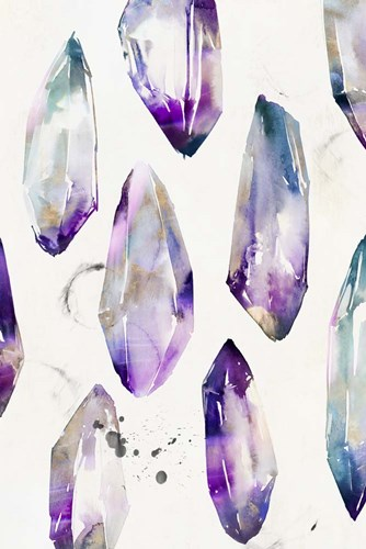 Purple Gemstones I art print by Isabelle Z for $43.75 CAD