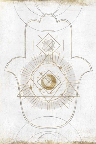 Gold Hamsa II art print by Isabelle Z for $43.75 CAD