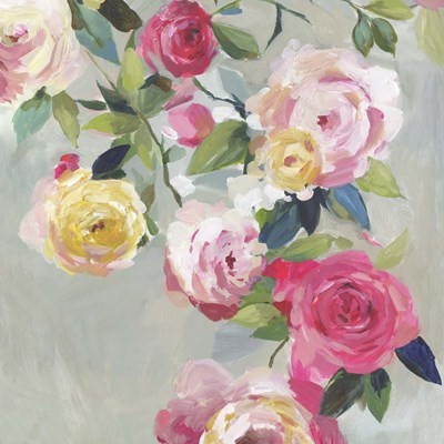 Cascade of Roses I art print by Asia Jensen for $56.25 CAD