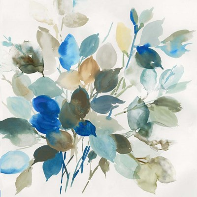 Blue Leaves I art print by Asia Jensen for $56.25 CAD