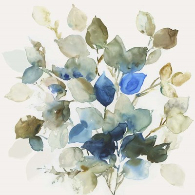 Blue Leaves II art print by Asia Jensen for $56.25 CAD