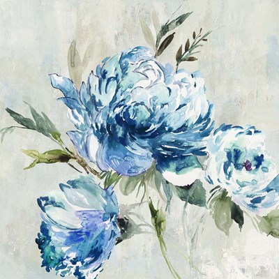 Blue Peony I art print by Asia Jensen for $56.25 CAD