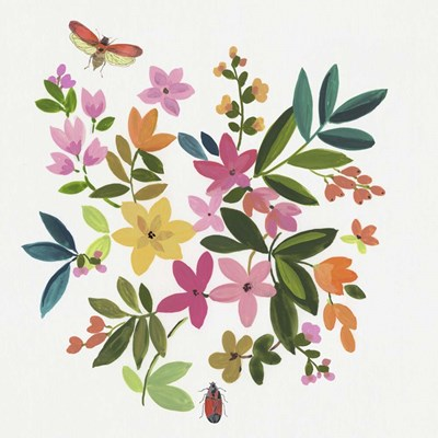 Folky Flowers I art print by Asia Jensen for $56.25 CAD