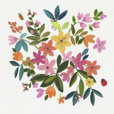 Folky Flowers II art print by Asia Jensen for $56.25 CAD