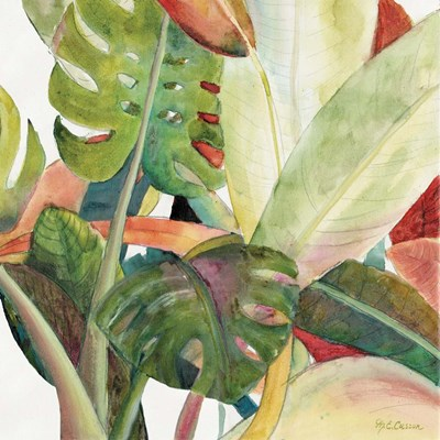 Tropical Lush Garden square I art print by Marie-Elaine Cusson for $53.75 CAD