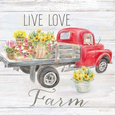 Vintage Truck Sentiment I (red) art print by Cynthia Coulter for $32.50 CAD