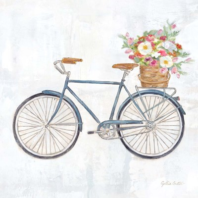 Vintage Bike With Flower Basket II art print by Cynthia Coulter for $32.50 CAD