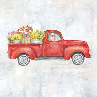 Vintage Red Truck art print by Cynthia Coulter for $32.50 CAD