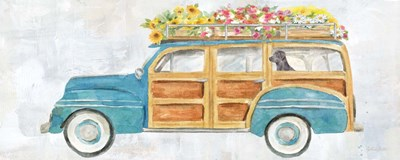 Vintage Station Wagon Panel art print by Cynthia Coulter for $35.00 CAD