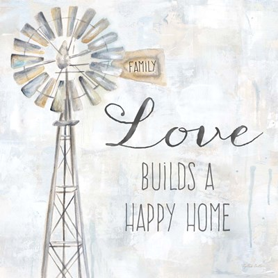 Windmill Love Sentiment art print by Cynthia Coulter for $32.50 CAD